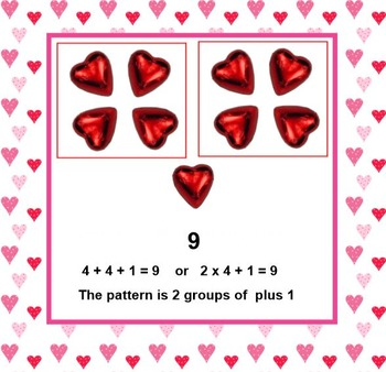 Subatizing Valentine Hearts