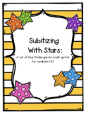 Subitizing Numbers 1-10: A Set of Four Math Sprints