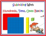 Subatizing With Place Value Blocks PRINTABLE Card Set