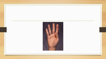 Subatizing recognise how many fingers without counting.
