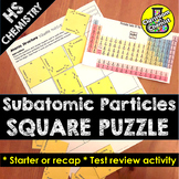 Atoms and Ions Activity - Square Puzzle