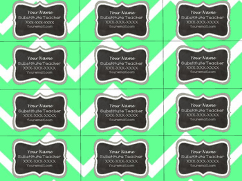 Subbing Business Cards