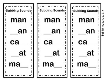 Word Ladders FREEBIE  Substitute Sounds in CVC Words to Make New Words