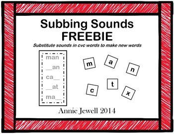 Word Ladders FREEBIE  Substitute Sounds in CVC Words to Ma
