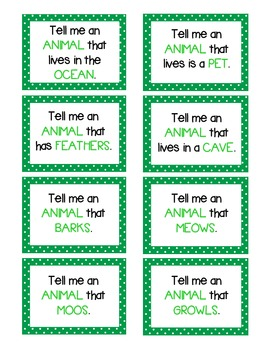 Subcategorization Activity Pack - expanded category practice