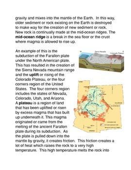 Subduction Common Core Activity