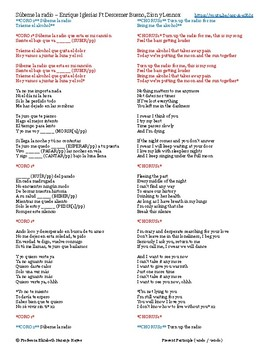 Súbeme la radio - Enrique Iglesias - Present Participle