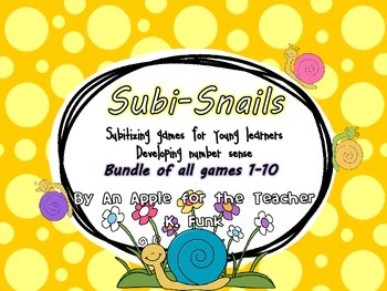 Subisnails Subitizing games for young learners BUNDLE!!