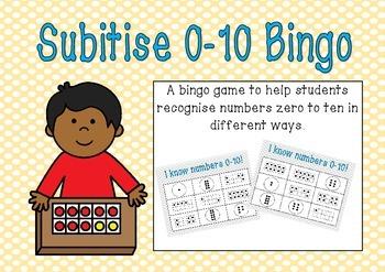 Subitise 0-10 Bingo