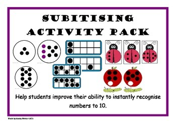 Subitising Activity Pack - AUS Curriculum and CCSS Aligned