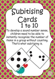 Subitising Cards 1 to 10: Great for the development of num