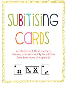 Subitising Cards Pack