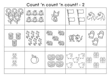 Subitising Circles/Scoots/Games/Worksheets Bundle Aust. Curric./C/C Aligned