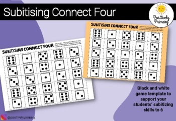 Subitising Connect Four Game / Four in a Row