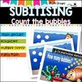 Subitising - dot pattern recognition.  Sea themed for kind