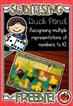 Subitising Duck Pond FREEBIE (subitizing)