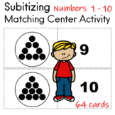Subitising  Matching  Center Activity 64 cards