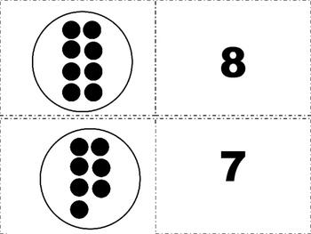 Subitising  Matching  Center Activity 64 cards