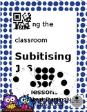 Subitising- Numbers 1-12.  QR coded Flipped classroom activity.