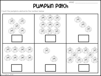 Subitising - Pumpkin Patch (Counting to 10)
