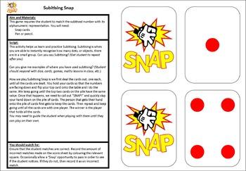 5 Games - Subitising Set