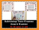 Subitizing Tens Frame Board Games 0-20