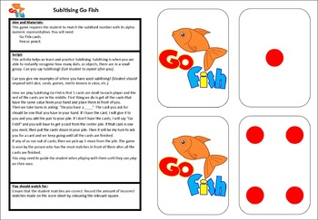 10 Games - Subitising and Addition Set