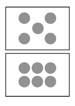 Subitizing (dot pattern) flash cards