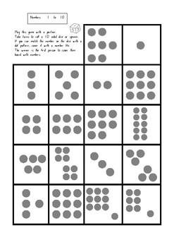 Subitizing (dot pattern) partner game.