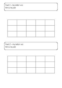 Subitising printable template