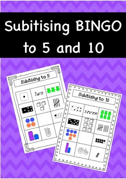 Subitising (subitizing) BINGO to 10