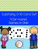 Subitize 0-10 Card Set with 4 Games