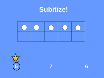 Subitize 1-10 with a ten frame