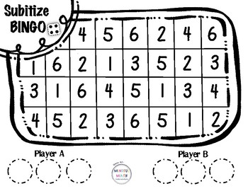 Subitize BINGO (two player game)