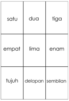 Subitize Card - Bahasa Indonesia
