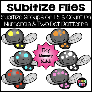 Subitize Flies | Counting Activity / Memory Game