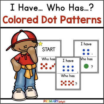 Subitize: I Have... Who Has...? Colored Dot Patterns to 10 {22 Cards}