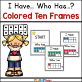 Ten Frame Game with I Have Who Has | Numbers to 10  | 22 Cards
