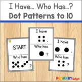 Subitizing Game with I Have... Who Has...? Dot Cards to 10