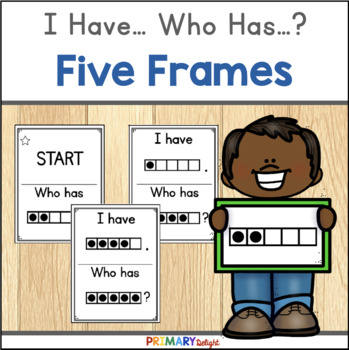 Subitize: I Have... Who Has...? Five-Frames {FREE}