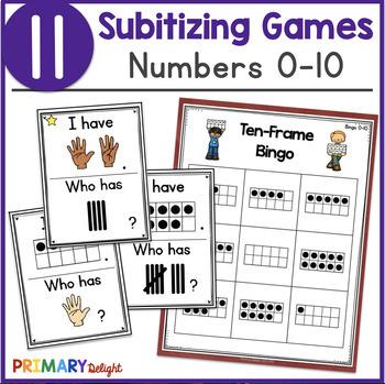Subitize: I Have... Who Has...? Subitizing to 10 Bundle