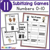Subitizing Game Bundle for Number Sense to 10
