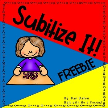 Subitize It FREEBIE for K and 1st Grade