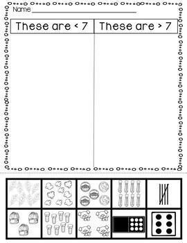 Subitize It Games and Activities for K and 1st Grade