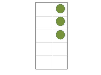 Subitize Numbers 1-10 Vertical and Horizontal Tens Frames