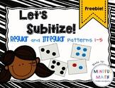 Subitize Regular and Irregular Dot Patterns 1-5
