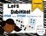 Subitize Regular and Irregular Dot Patterns 1-5