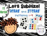 Subitize Regular and Irregular Dot Patterns 1-9