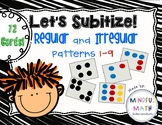 Subitize Regular and Irregular Dot Patterns 1-9