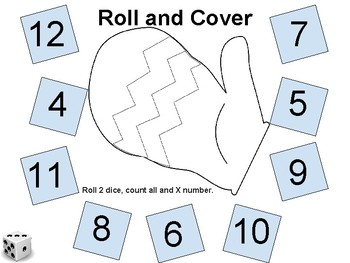Subitize - Winter Roll and Covers (1 and 2 dice)